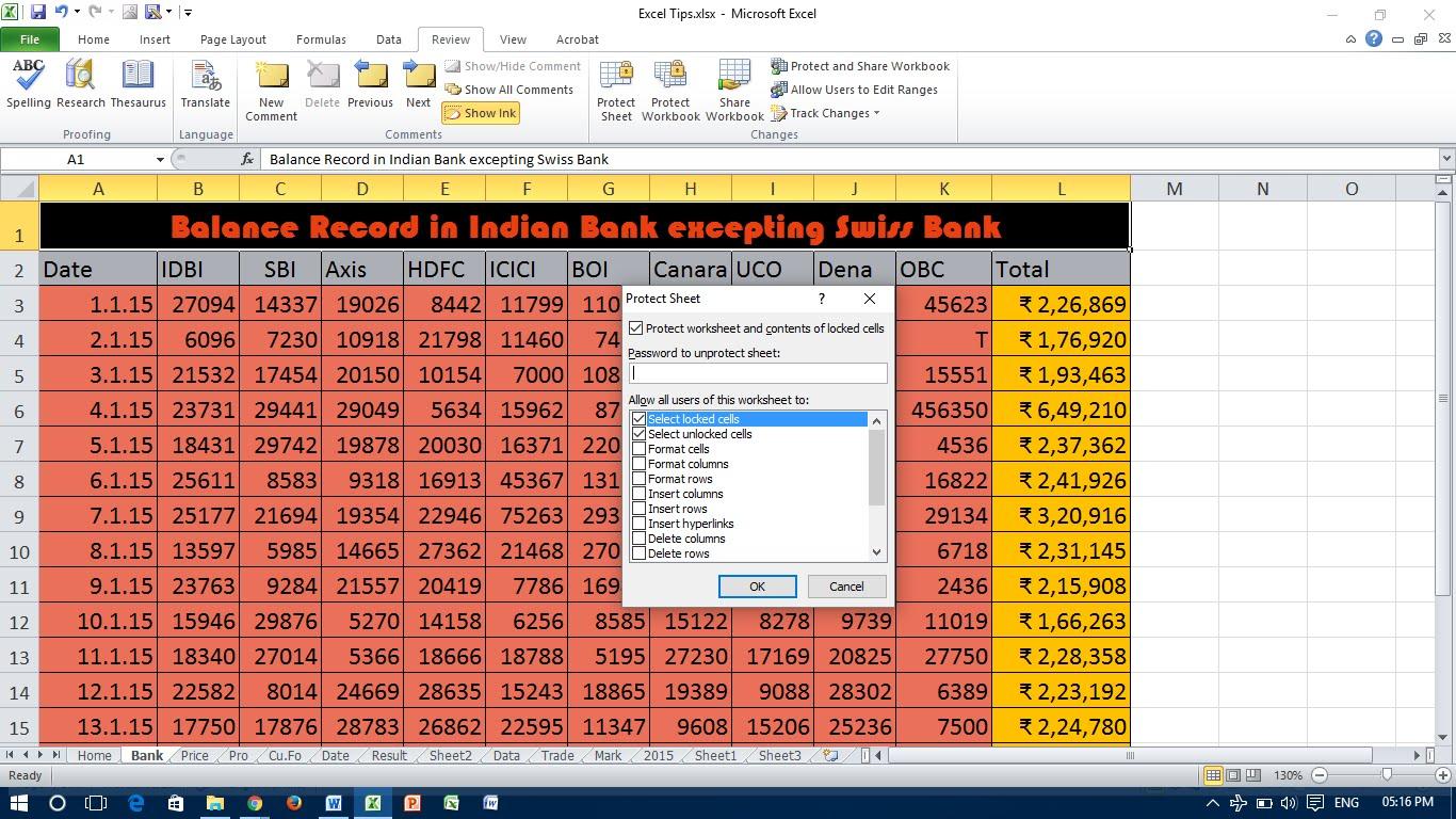 Secure Excel Spreadsheet