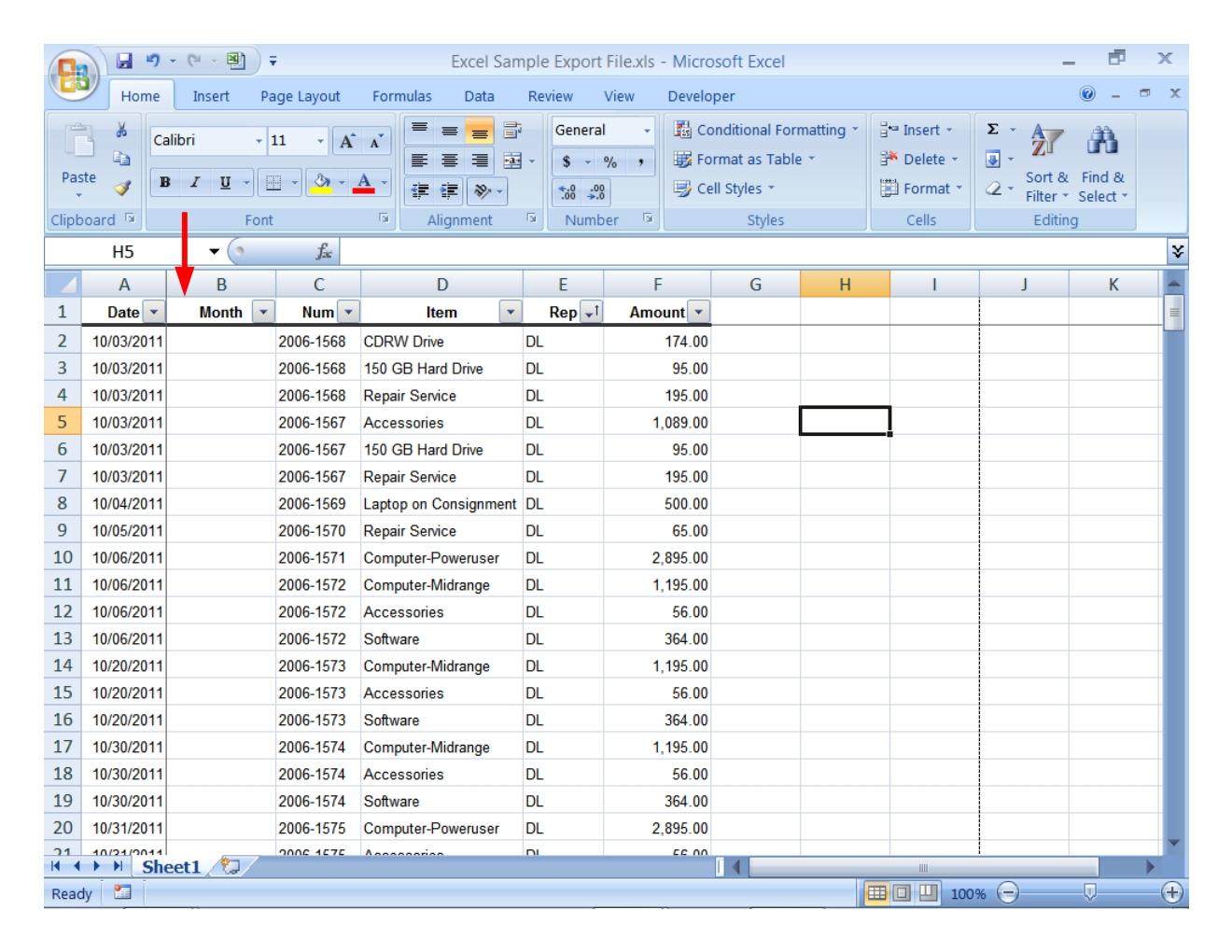 Link Data In Excel Worksheet
