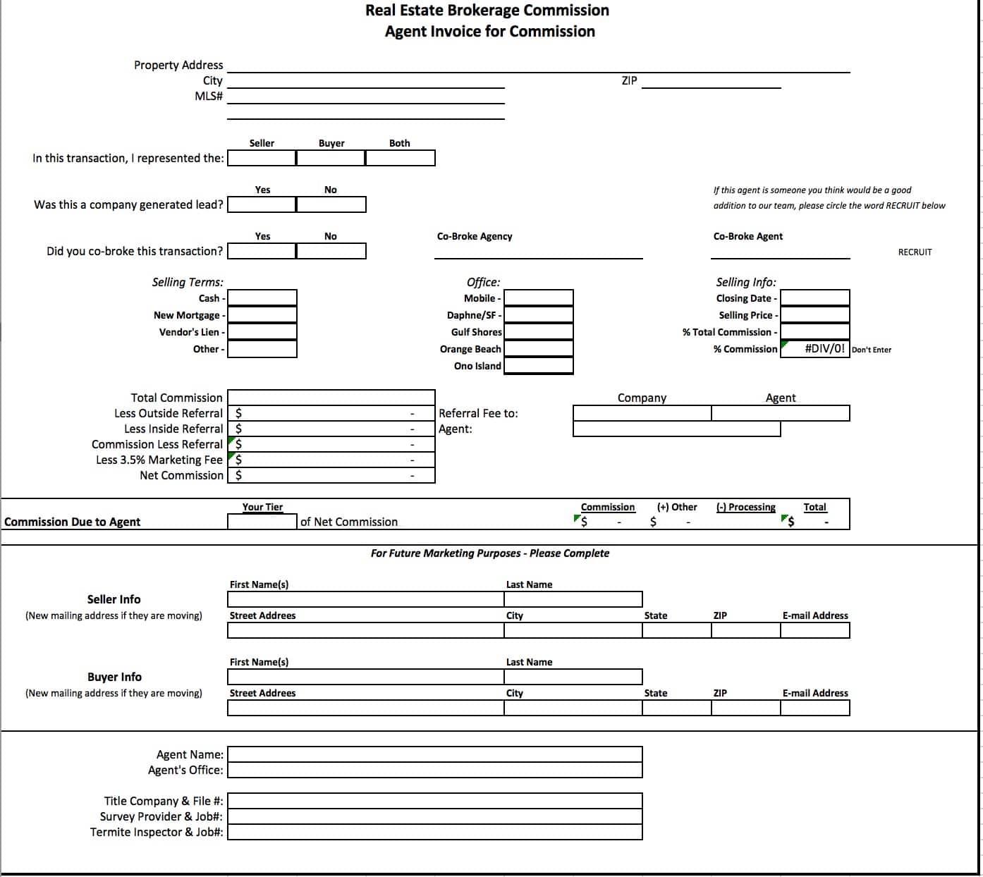 Commission Calculator Spreadsheet