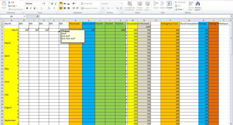 How To Do A Budget Sheet