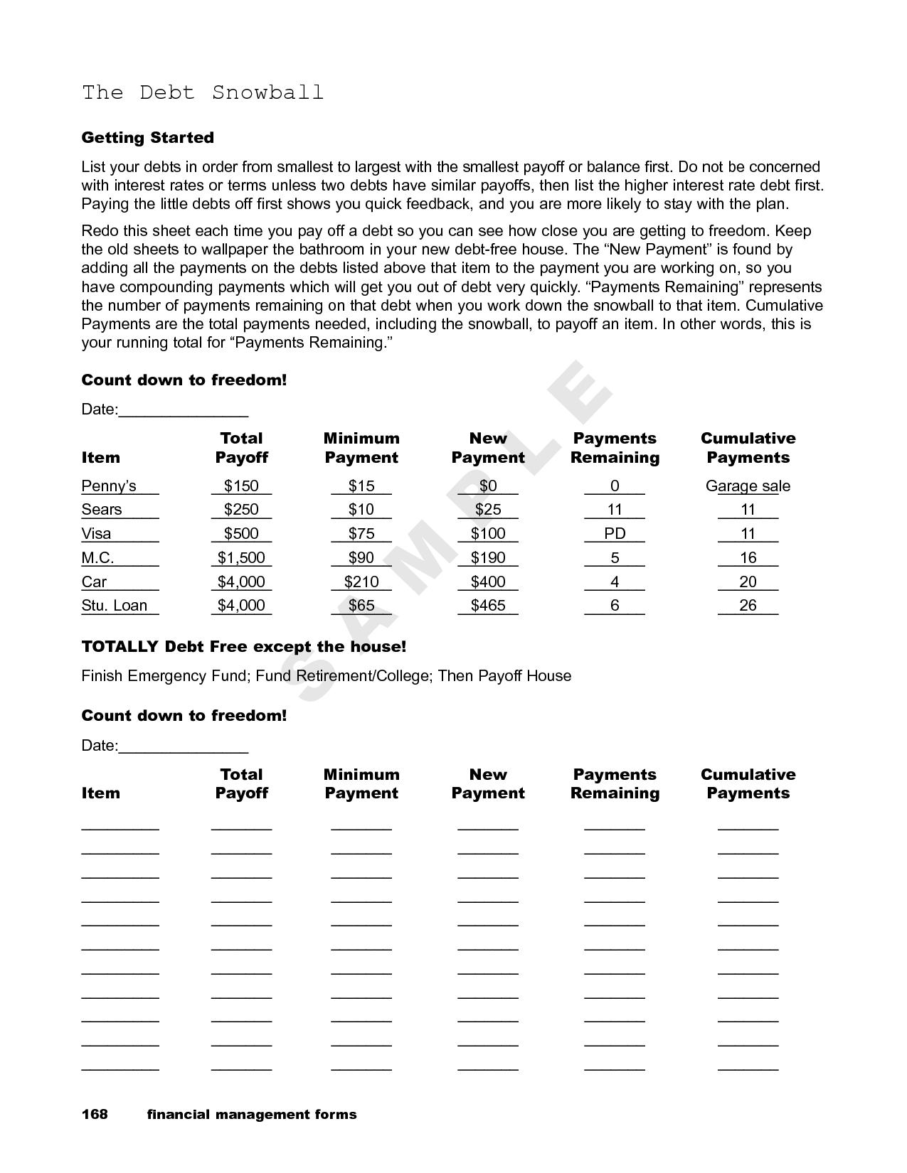 Dave Ramsey Debt Snowball Spreadsheet Free