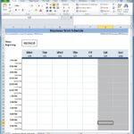 Employee Shift Scheduling Spreadsheet   Natural Buff Dog