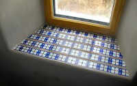 tiled windowsill with seconds
