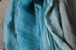 beautiful colours on silk and wool