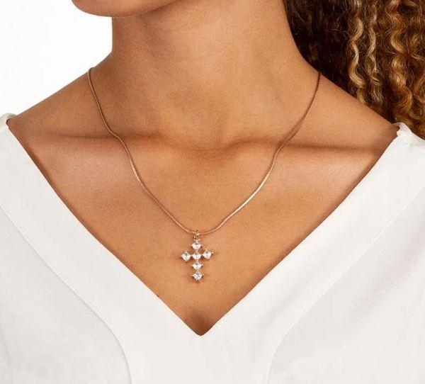 Pingente Rommanel 542104 cruz crucifixo
