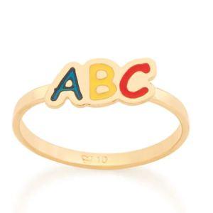 Anel Rommanel 512803 de formatura ABC