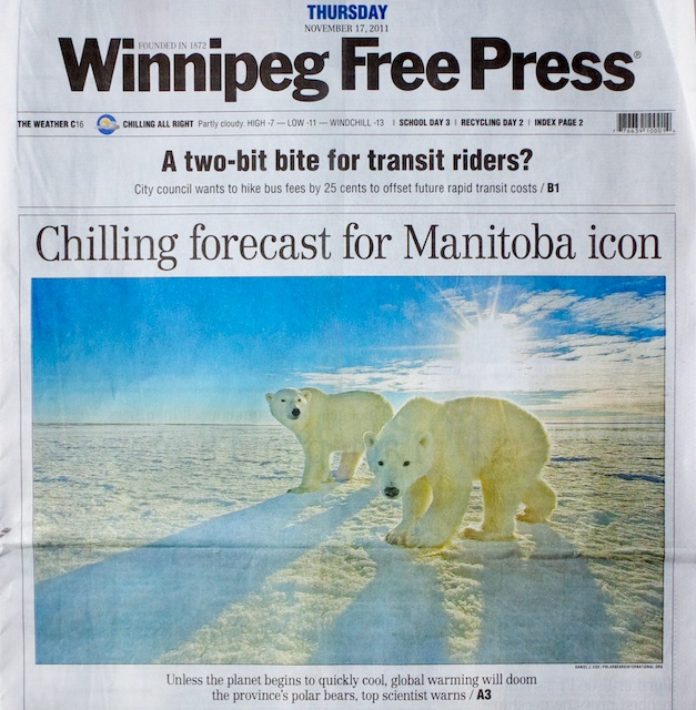 Cover of the November 17, 2011 edition of Winnipeg Free Press