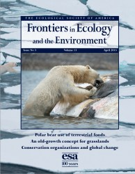 Cover of 2015 April Frontiers in Ecology and the Environment