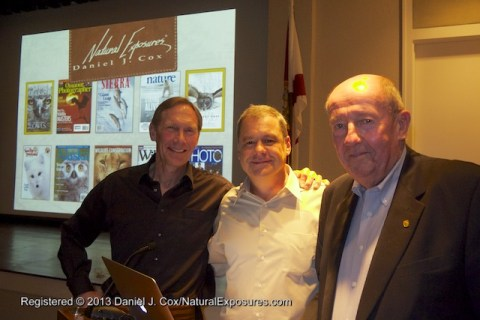 Steve Amstrup, Daniel Cox and Bob Elliott at the Boca Grande Community Center for Dan and Steve's presentation on the ADP and PBI. The multi-media event was in association with Gasparilla Island Conservation & Improvement Association.