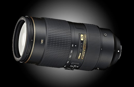 The new, second generation  Nikkor 80-400mm zoom lens. Should be great for wildlife and sports.