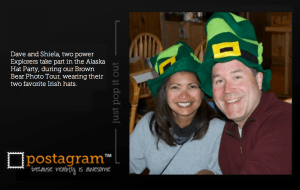 Post card of our good friends and Explorer Alumni Dave and Shiela Glatz.