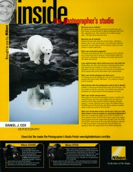 Cover of 2010 Digital PhotoPro Nikon Inside the Photographer's Studio