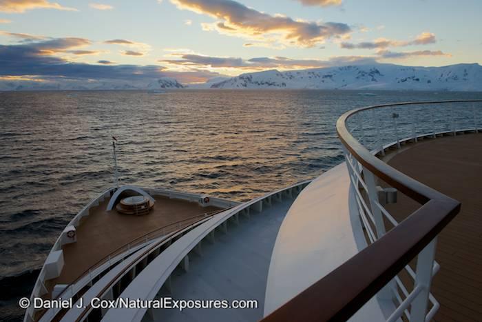 Seabourn Quest in Antarctica along the Gerlache Strait. Nikon D600.