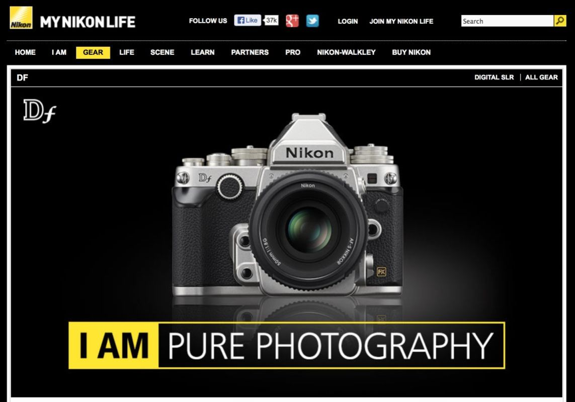 The official announment of the new Nikon DF on MYNIKONLIFE.