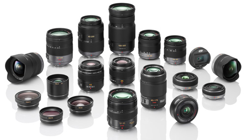 The Lumix Vario collection of lenses.