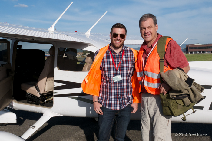 Fredrico and Dan on the ground in Florence, Italy.
