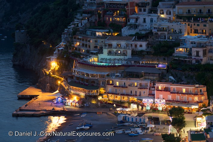 The city of Positano, Italy is probably my favorite city on the planet that I've visited. Such a wonderful scene in the blue light of dusk. Gh4 with Leica Nocticron 42.5mm F/1.2