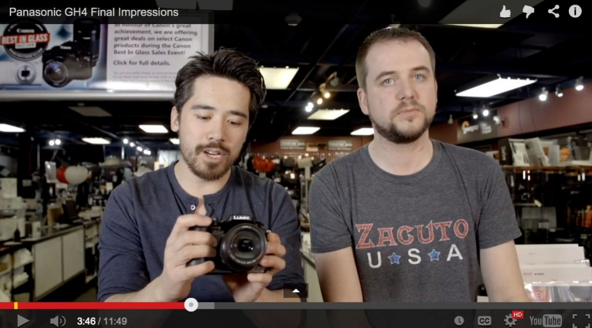 Camera Store TV gives some additional thoughts on the new Panasoinc Lumix GH4.