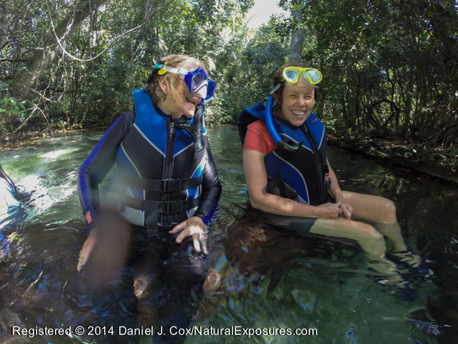 Freddy and Judy take a break from our swim down the Salobra River, Brazil