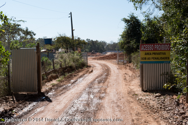 Construction at the edges of a small blact-taild marmoset reserve in the middle of Cuiaba, Brazil.