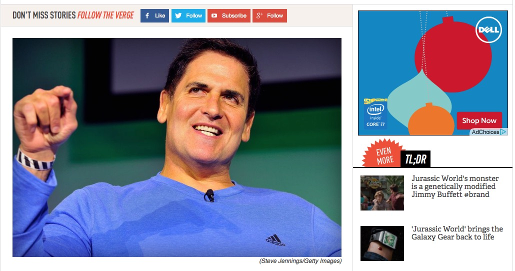 Multi billionaire Mark Cuban is taken to task by The Verge. What are your thoughts on Net Neutrality.