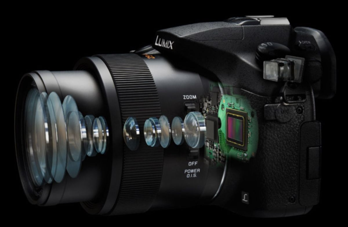 The Lumix FZ1000 all in one compact also known as a Bridge Camera. It features a 1inch sensor and a Leica designed lens that ranges from 25-400mm F/1.7-2.8 lens.