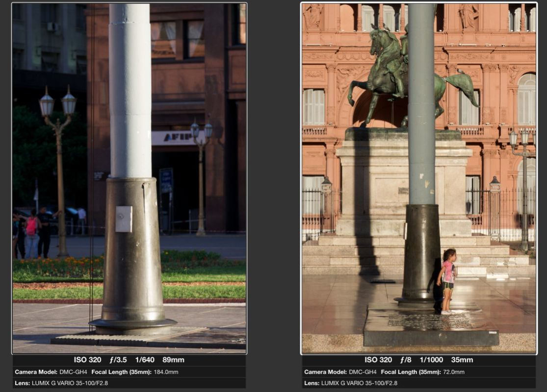 The left image is has more of a feeling of 3 dimensions due to side light. The right image is boring due to front light.