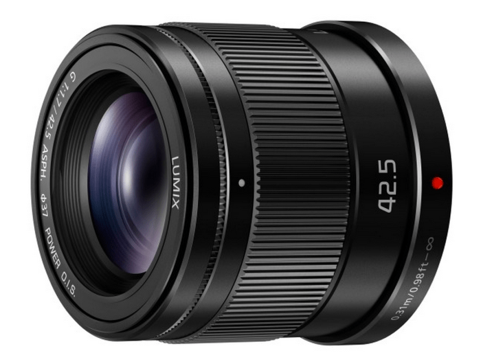 The new Lumix 42.5mm lens that is considerably cheaper than my favorite 42.5mm F/1.2 Leica lens.