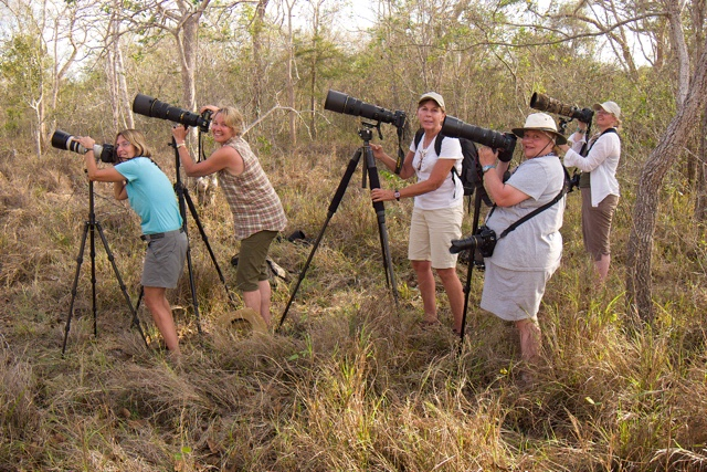 Explorers Andrea, Joanne, Jeannne, Lynne and Christine shooting in the Pantanal of Brazil. these are just a small part of the many millions of outdoor enthusiasts who spent 6 Billion dollars last year on outdoor recreation that includes wildlife and nature photography.