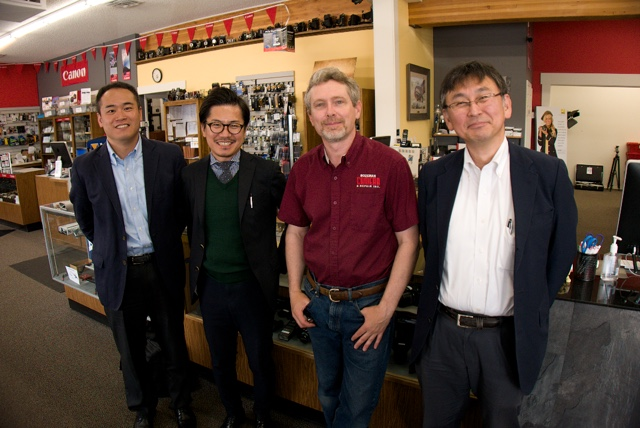 Panasonic Lumix Executives from Tokyo meet with Marshal Lewis at Bozeman, Camera in Montana.