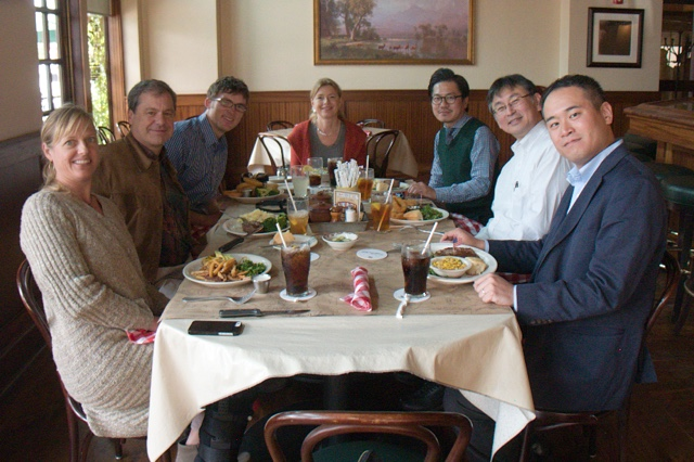 A wonderful lunch at Ted's Montana Grill with our guests from Panasonic . Bozeman, Montana