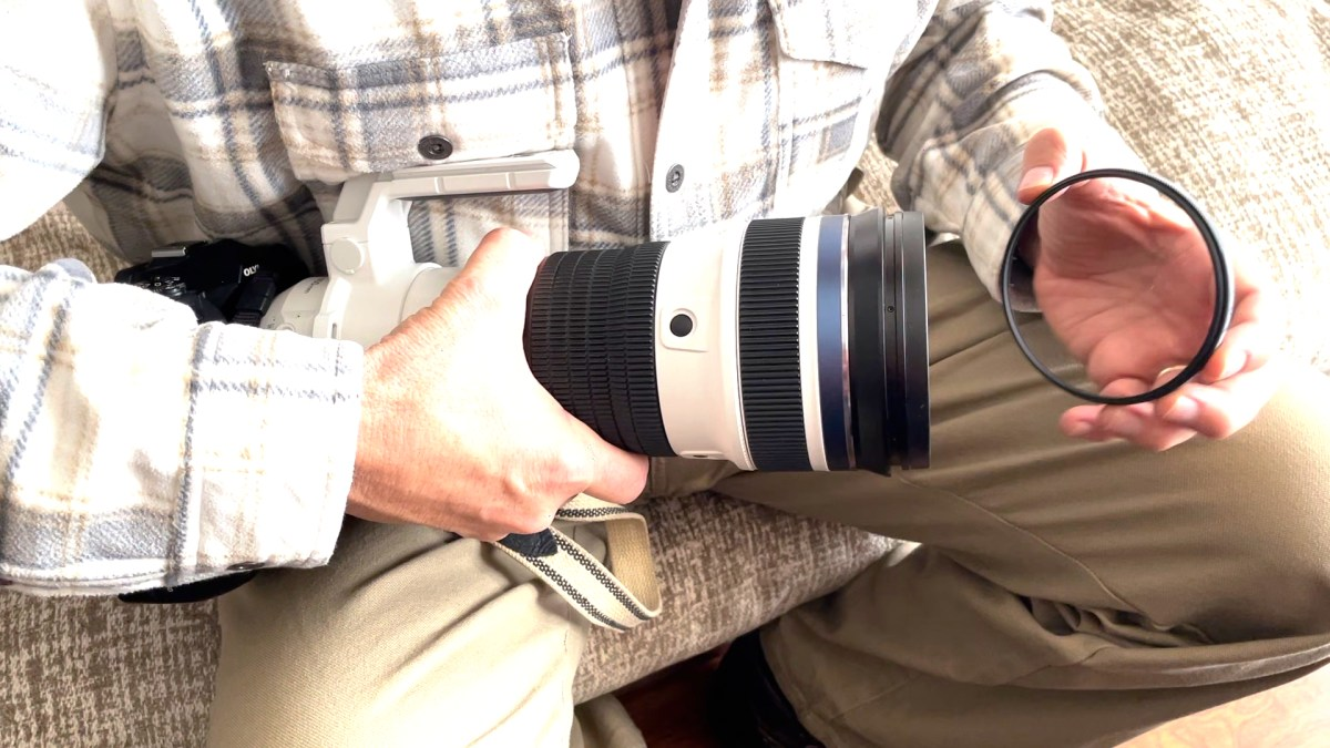 Protective filter for the Olympus 150-400mm zoom is imperative.