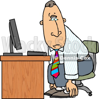 6261-tired-businessman-sitting-at-computer-desk---royalty-free-clipart-illustration-by-dennis-cox-at-wackystock