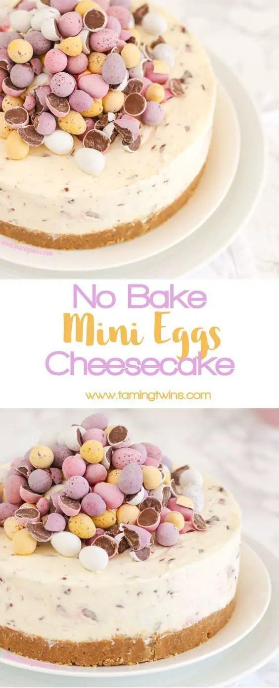 No Bake Mini Egg Cheesecake