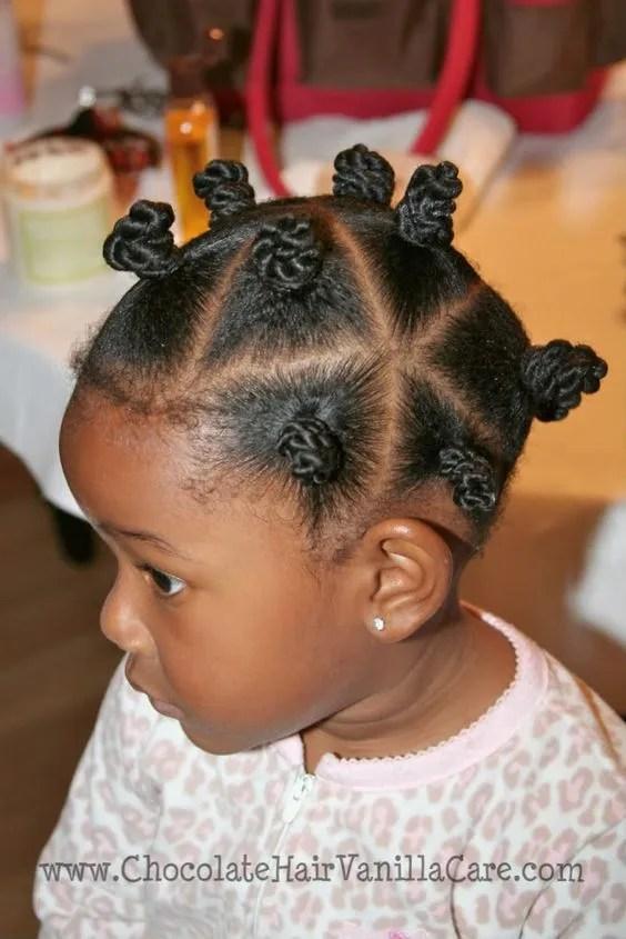 bantu knot hairstyle for short natural hair
