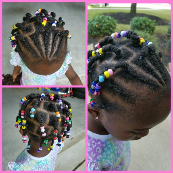short cornrowed hairstyle for kids