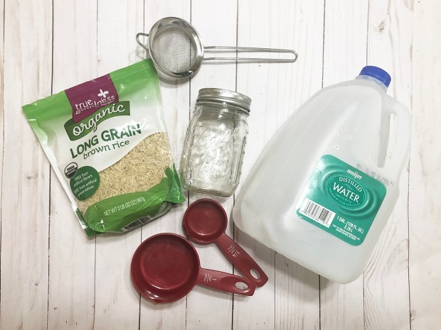 Rice water rinse ingredients for natural hair
