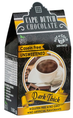 Cape Dutch Sugar Free Dark Thick Hot Chocolate