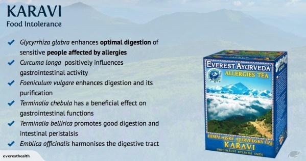 KARAVI Food Intolerance & Allergy Ayurveda Tea