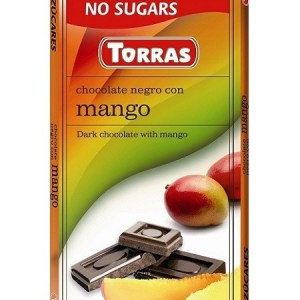 Sugar Free Dark Chocolate with Mango (75g)