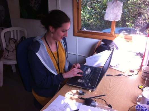 Volunteer Alex Domenge has spent days entering records on the Wildlife Garden database