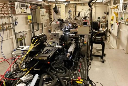 Experimental station at Diamond Light Source