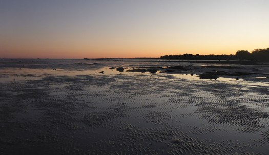 Photograph of a sunset over Broome beach