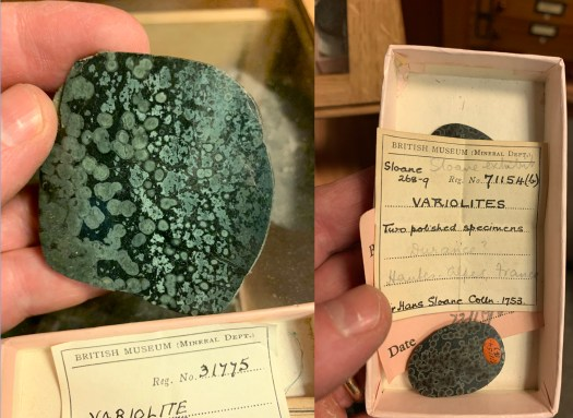 Variolite from Sloane Collection