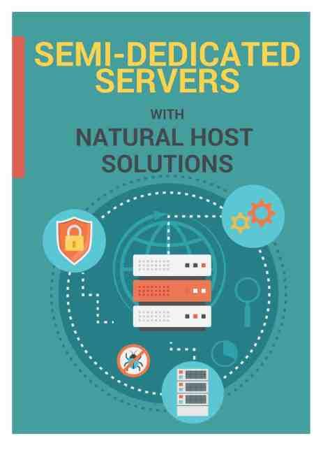 semi dedicated server brochure image