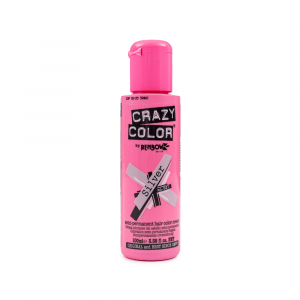 Crazy Color - Vopsea semipermanenta Silver 100 ml