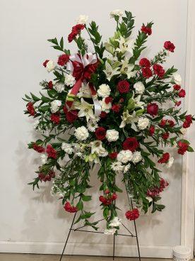 FNR003 $280.00 Red & White Classic wreath