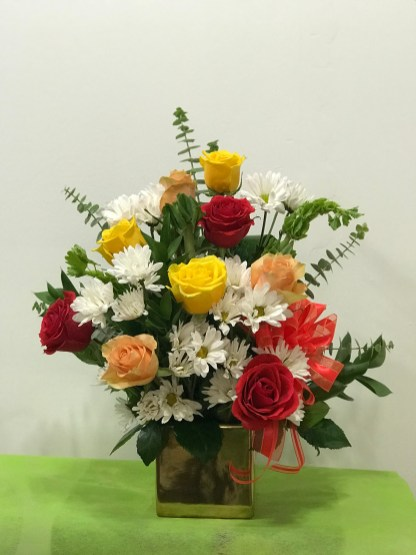 HOBD009- Mix roses and mix flowers $75.00