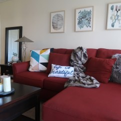 Images Of Living Room With Red Sofa Wide Sofas Sectionals 3 Ways To Work Around A When Styling Your Decor Home