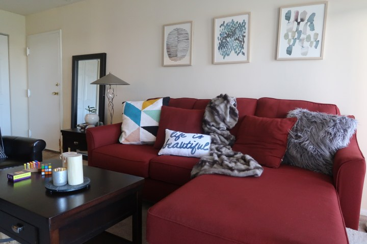 Pictures Of Living Room With Red Sofa